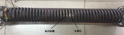 Detection of tension spring by electromagnetic guide wave