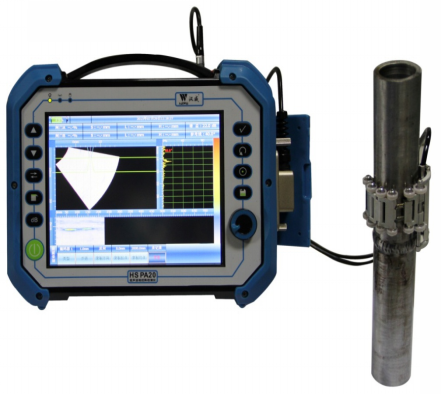 Detection of small diameter pipe weld by phase array