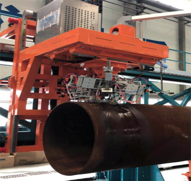 Detection of helical-welded pipe
