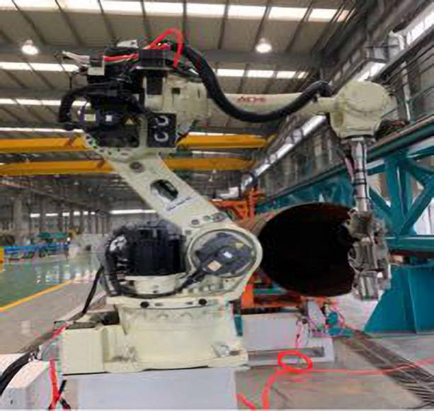 Phased array automatic testing system of pipe end